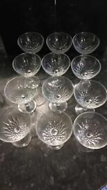 12 dessert/sundae glasses