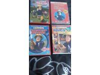 Selection of Fireman Sam dvd's