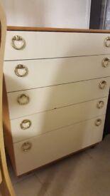 Set Of Vintage White Drawers