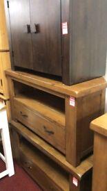 corner TV unit - wood