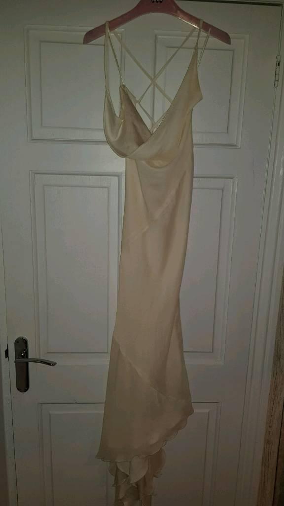 Cream chiffon dress size 10