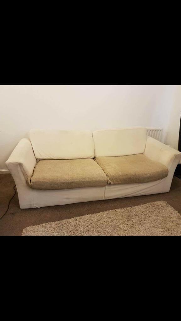 Cream memoryfoam sofa
