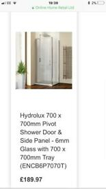 Hydrolux shower door & tray - sensible offers welcome