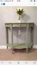 Statement hallway console occasional table