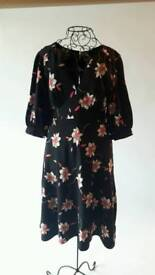 Ossie Clark Black / Coral / Beige Dress