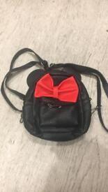Minnie Mouse rucksack Mini Size Leather Black