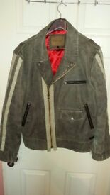 PEPE Biker Jacket in soft leather, wery nice condition only 39 £!!!! real price 380 £!!! size L