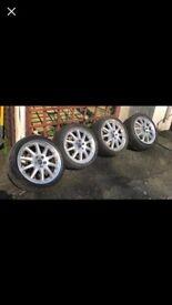 "18"" 5x108 pcd genuine ford split rims alloys wheels focus Mondeo transit connect"