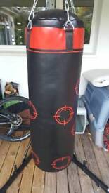 Domyos punch kick bag and York fitness stand martial arts trauning