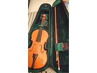 Locto model199 violin in case with bow, chin rest etc.
