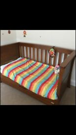 Mamas and Papas 'Ocean' Dark Oak Cot Bed