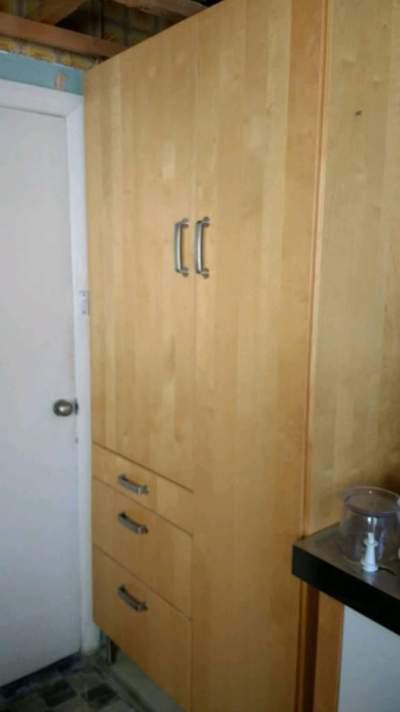 Kitchen larder tall cupboard freestanding