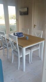 Dining Table and 4 Chairs Brand New