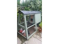 carpenter built wooden chicken coop