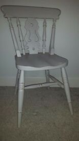 SHABBY CHIC SOLID PINE FARMHOUSE CHAIR VINTAGE