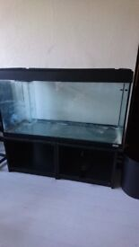 Fluvial 200 litre tank with sump and skimmer. Extras included