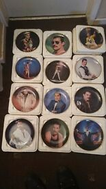 Collectable queen plates by Danbury Mint