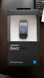 Brand New Unopened Samsung Gear Fit 2 Black size L