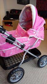 Pink Silvercross Doll's Pram