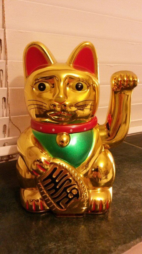Large Chinese lucky cat for sale
