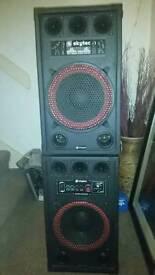 Skytec SPB-12 Pair Active Speakers 800w