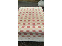 Excellent Double Bed complete Quick FREE delivery. Hardly used., very clean, no stains Well Made