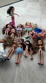 Bratz dolls 10/12 years old in excellent condition