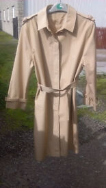women's raincoat size 14 great condition classic style fawn colour Jessica Fletcher Murder She Wrote