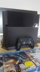 PS4 FOR SALE WITH 1 CONTROLLER 3 GAMES AND 2 BLU RAYS