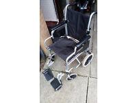 ROMA MEDICAL Lightweight Folding Transit Wheelchair