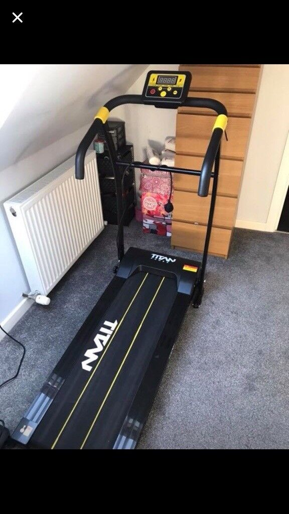 Titan Treadmill in excellent condition. This can be folded to lie flat. Pickup Gourock