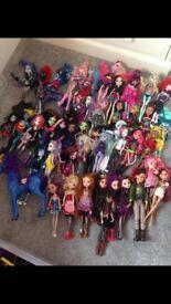 Huge collection Monster High/Ever After dolls
