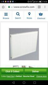2 X 500mm x 1600mm single panel convection radiator - kudox premium