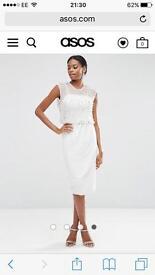 White evening wedding occasion dress size 10