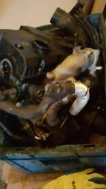 VW Polo 1.4 TDI cylinder head, turbo and injectors.