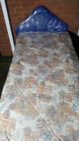 single bed with mattress & headboard can deliver