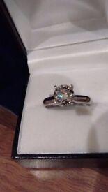 Rare Fancy Grey 1.01ct Diamond ring vvs1