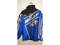 wulfsport jacket motocross motox quad youth junior kids size 34 approx age 13 blue