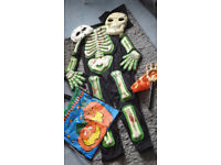 Halloween costume - age 7 -8 & accessories