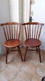 Vintage Antique Ibex Dining Chairs