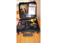 Used Dewalt DC725 Cordless 18 v combination hammer drill set, GWO, see photos & details