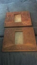 Trench art carved frames