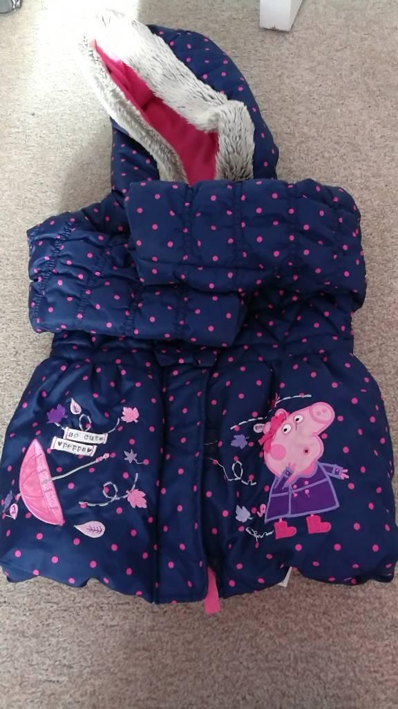 Girls Peppa Pig Coat aged 2-3