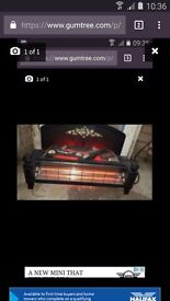 Two bar log effect electric fire