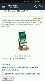 Bamboo stand for iPhone
