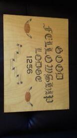Wood Scribe Art/Possibly Mason or Buffalo Organisation