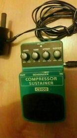 Behringer cs100 compressor/sustainer EXCELLENT CONDITION