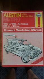 Austin Metro - Haynes Owners workshop Manual