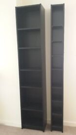 2 x TALL SHELF UNITS FOR SALE - Height 201cm - Wide and narrow units