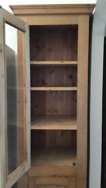 Wooden glass door display cabinet